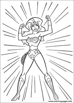 Print Wonder Woman 53 Coloring Pages