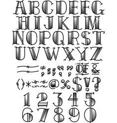 Retro fontface vector 1242969 - by ClipArt4U on VectorStock®