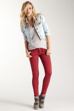 Frankie B  Jeggings in an awesome color