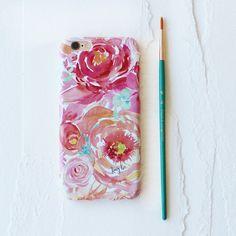 Raspberry Peach Peony Watercolor Cell Phone Case – KristyRice.com