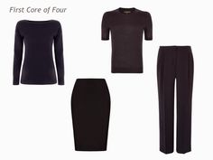 The Vivienne Files: A Four by Four Wardrobe in Navy, Grey, Teal and Burgundy