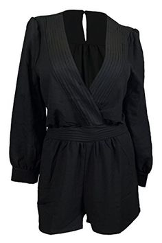 eVogues Plus Size Long Sleeve Romper Black - 2X eVogues Apparel http://smile.amazon.com/dp/B00NXTNOSA/ref=cm_sw_r_pi_dp_5JGUwb0QBZX1C