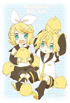Vocaloid, Kagamine Len, Kagamine Rin, Kagamine Mirrors