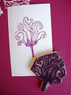 little boy hand carved rubber stamp child handmade by talktothesun Stamp Printing, Printing On Fabric, Screen Printing, Clay Stamps, Homemade Stamps, Make Your Own Stamp, Stamp Carving, Gravure, Fabric Painting