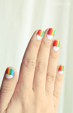 Rainbow Nails // Je retombe en enfance   PSHIIIT