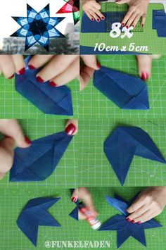 de origami Anleitung - Sterne aus Transparentpapier basteln mit Kindern DIY guide to fold a star of tracing paper. Made quickly and cheaply, ideal for tinkering with children for Christmas. Origami Diy, Paper Crafts Origami, Origami Stars, Origami Flowers, Origami Tutorial, Home Crafts, Diy Crafts, Waldorf Crafts, Paper Stars
