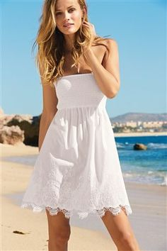 Buy White Pull-On Dress from the Next UK online shop