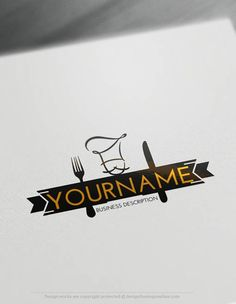 Create a logo Free - Chef Logo Templates. Customize This logo with our free logo maker tool Cake Logo Design, Food Logo Design, Logo Food, Logo Design Template, Free Logo Templates, Team Logo Design, Web Design, Resturant Logo, Restaurant Logo Design