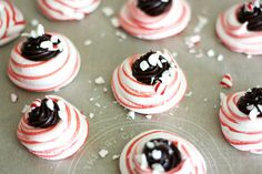dark chocolate peppermint meringues