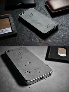 Luna Concrete Skin. The Luna concrete skin for iphone 5 / 5s by Posh Projects is made from real concrete and are designed like as a surface of the moon. #LunaConcreteSkin | #iPhone | #PoshProjects |