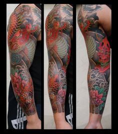tattoorium japanische tattoos japanische und japanisches ganzarm tattoo. Black Bedroom Furniture Sets. Home Design Ideas