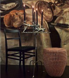 Tabouret/Table d'appoint Dot - Cuivre antique - Pols Potten