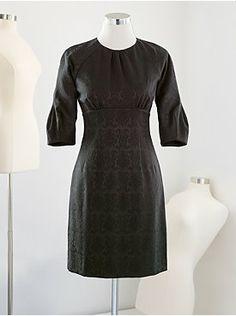 Eva Mendes Collection - Sofia Tulip-Sleeve Jacquard Dress from New York & Company