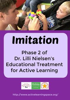 Imitation is Phase 2 of Educational Treatment in Dr. Lilli Nielsen's theory of Active Learning. Name Activities Preschool, Preschool Special Education, Teaching Activities, Therapy Activities, Teaching Kids, Gifted Education, Learning Disabilities, Multiple Disabilities, Environmental Print