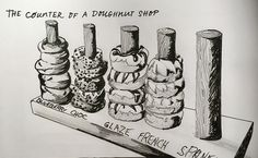 13 The Counter Of A Donut Shop | by acl John
