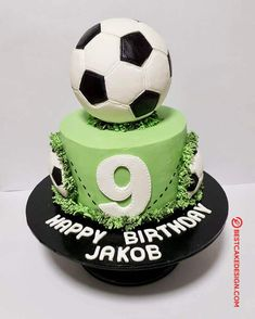 Best Picture For portugal Soccer Cake For Your Taste You are looking for something, and it is going Soccer Birthday Cakes, 9th Birthday Cake, Soccer Cake, Football Birthday, Chelsea Football Cake, Football Cakes For Boys, Football Cupcakes, Cake Designs Images, Cool Cake Designs