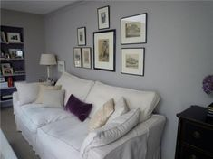 Living Room Paint Farrow And Ball Grey Walls 46 Ideas Living Room With Fireplace, Living Room Paint, Living Room Grey, Small Living Rooms, Living Room Sofa, Home Living Room, Living Room Decor, Living Spaces, Dining Room