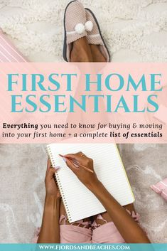 You'd be surprised at the number of things you need for your first home, and hopefully, this checklist will make it a lot easier for you! Vital first home essentials, everything you need to buy First Home Essentials, First Home Checklist, First Apartment Checklist, House Essentials, Home Buying Tips, Buying A New Home, Manufactured Home Remodel, Home Safety, Moving Tips