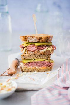 """Pastrami Sandwich from """"New York – Capital of Food"""", newest cookbook by Liz & Jewels #newyorknewyork"""