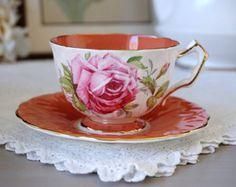 Colclough Tea Cup and Saucer Vintage Teacup by TeacupsAndOldLace