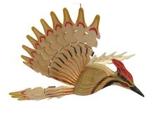 Woodpecker Wooden Art Home Decoration Carved Bird by MyFanbirds