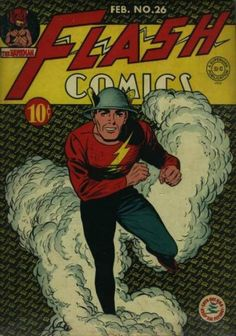 The Flash in 1942 vs. The Flash today: Flash Comics, Dc Comics Art, Fun Comics, Marvel Comics, Dc Comic Books, Comic Book Covers, Comic Art, Flash Wallpaper, Justice Society Of America