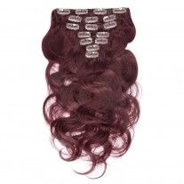 100g 18 Inch #99J Straight Clip In Hair