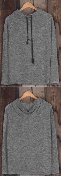 Best hoodie to get with free shipping&easy return Now! This drawstring sweatshirt gonna offer you a sports look! Vitalizing your daily routine with Cupshe.com