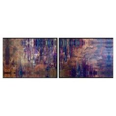 """Add a pop of style to your foyer or dining room with this eye-catching giclee print, showcasing a chic abstract motif.   Product: Set of 2 wall artConstruction Material: Paper, engineered wood, and polystyreneColor: Black frameFeatures: Ready to hangDimensions: 12.5"""" H x 20.5"""" W each"""
