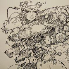 Katsuya Terada - Untitled Live Drawing - #4