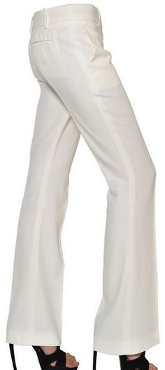 Alexander McQueen  Leaf Viscose Crepe Flared Trousers-love and want