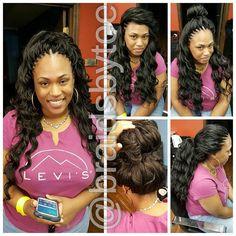 Fun and Beautiful Braided Hairstyles – HerHairdos Kima Crochet Hair, Crochet Marley Hair, Ocean Wave Crochet Hair, Micro Braids Hairstyles, African Hairstyles, Crochet Weave Hairstyles, Updo Hairstyle, Prom Hairstyles, Black Girl Braids
