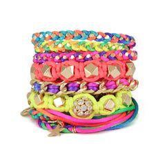 Ettika Neon Bright Bracelet Stack $345