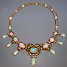 Opal & Diamond Necklace Reputedly Owned by Elsie de Wolfe To Be Sale Centerpiece | WorthPoint