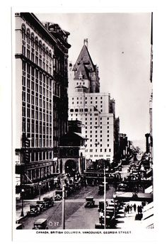 BC – VANCOUVER, Georgia Street, C.P. Cruise Postcard c.1920s RPPC