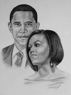 BARACK  &  MICHELLE OBAMA --- THE PRESIDENT AND HIS FIRST LADY............