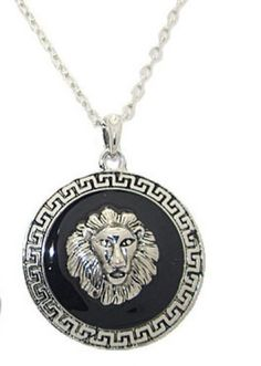 Lion Scroll Pendant Necklace