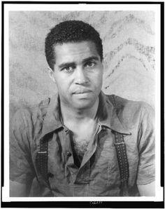 "Robert Earl Jones, father of James Earl Jones, appeared in Oscar Michaeux films, on Broadway and with Robert Redford in The Sting. In the 1930s, he was a boxer and the sparring partner of Joe Louis. Blacklisted in the 1950s, he appeared in an uncredited role as the club employee who offers Harry Belafonte a ""piece of iron"" in the 1959 film noir Odds Against Tomorrow.  Photo by Carl Van Vechten."