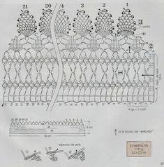 Roberta Crochê e Cia: Barrados em Crochê com Gráficos