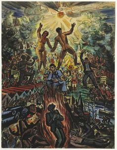 Het heil van het Communisme (1936) by Frans Masereel (Belgian 1889 - 1972)