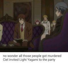 Black Butler Book of Murder x Death Note