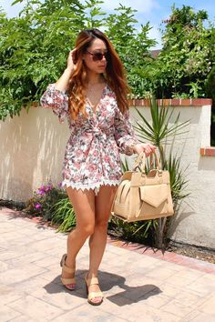According to Kimberly wearing our Alanis Floral Print Romper