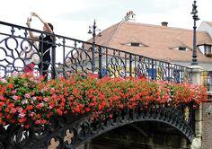 Podul Minciunilor din Sibiu, primul pod din fontă realizat în România (1859)