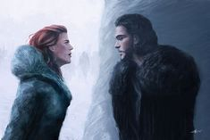 Ygritte and Jon Snow (Game of Thrones) by InkDrone on DeviantArt
