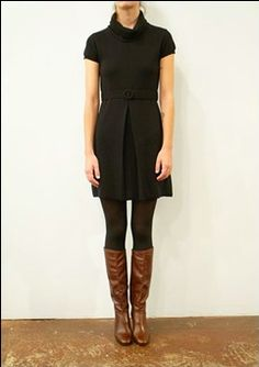 outfit (black + brown boots)