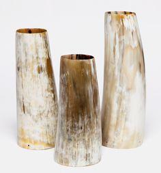 Natural Horn Vases