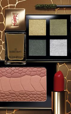 Fleur De Force: Khaki Makeup for A/W 2012