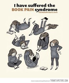 Funny pictures about Book pain syndrome. Oh, and cool pics about Book pain syndrome. Also, Book pain syndrome. I Love Books, Good Books, Books To Read, My Books, Story Of My Life, The Life, Real Life, I Love Reading, Reading Books