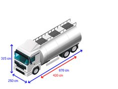 IVECO 260E27 dimensions - with every vehicle we have measured you can see the dimensions in an picture like this. The more you are certain to find your perfect truck! See for yourself right here: www.kleyntrucks.com