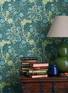 englische design tapeten william morris luxus papier tapete muster 8 rote blumen online kaufen. Black Bedroom Furniture Sets. Home Design Ideas